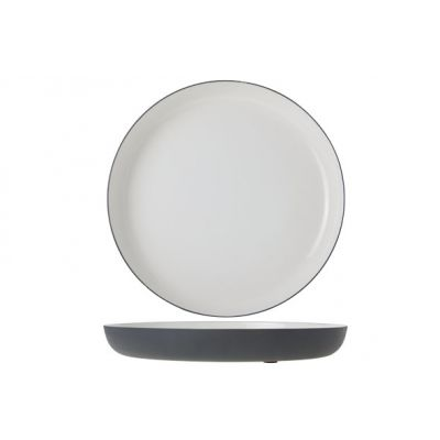 Cosy & Trendy Plate Alu 29cm White Enamel Grey Grahite