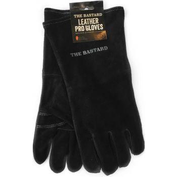 The Bastard BBQ leather pro gloves