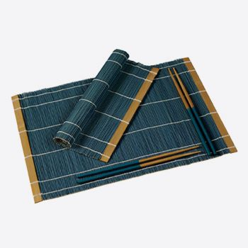 Typhoon set of 2 placemats and chopsticks for 2persons blue