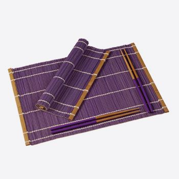 Typhoon set of 2 placemats & chopsticks for 2 persons violet