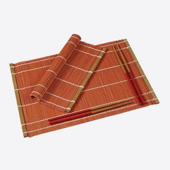 Typhoon set of 2 placemats & chopsticks for 2 persons red