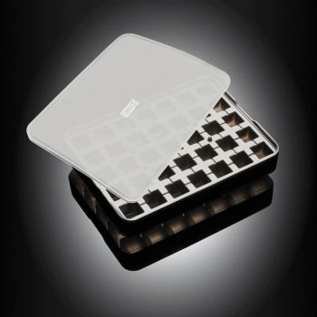 Lurch silicone ice cube tray with lid black 2x2cm