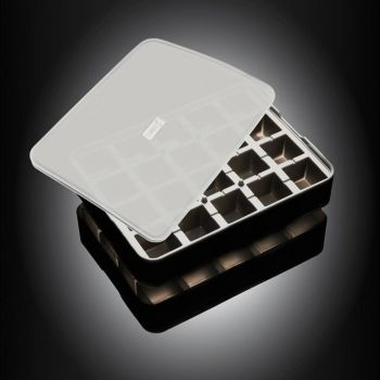 Lurch silicone ice cube tray with lid black 3x3cm