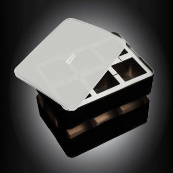 Lurch silicone ice cube tray with lid black 5x5cm