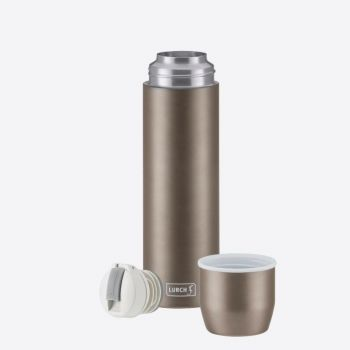 Lurch double-walled vacuum flask with cup in stainless steel taupe 450ml