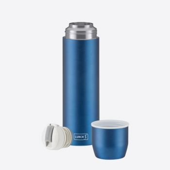 Lurch double-walled vacuum flask with cup in stainless steel blue 450ml