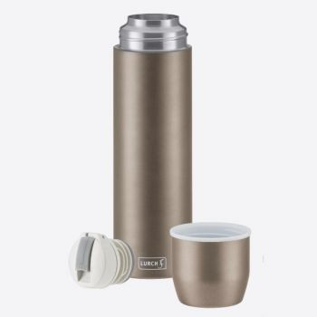Lurch double-walled vacuum flask with cup in stainless steel taupe 750ml