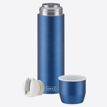 Lurch double-walled vacuum flask with cup in stainless steel blue 750ml