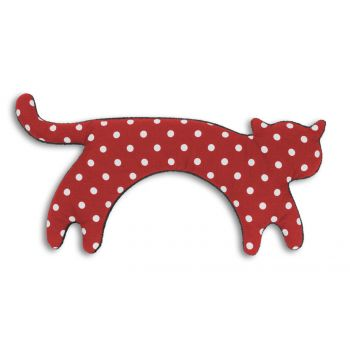 Warming pillow Minina cat L - polkadot red/black
