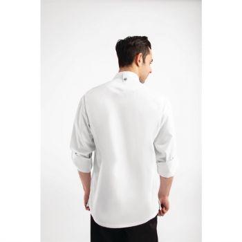 Chef Works Urban Hartford unisex koksbuis met rits lange mouw wit XL