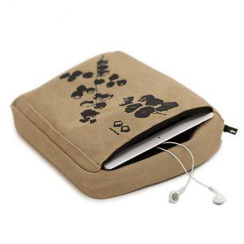 Bosign cotton tablet pillow/cover khaki 27x22x9.5cm