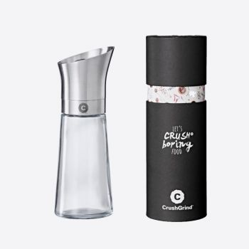 Crushgrind Kala stainless steel and glass spice grinder silver grey 17cm