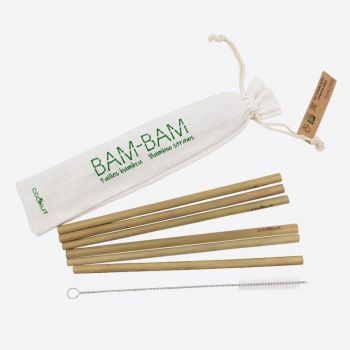 Cookut Bam Bam set of 6 bamboo straws and a cleaning brush 20cm (20pcs/disp.)