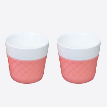 Cookut Lola set of 2 porcelain coffee cups pink 125ml