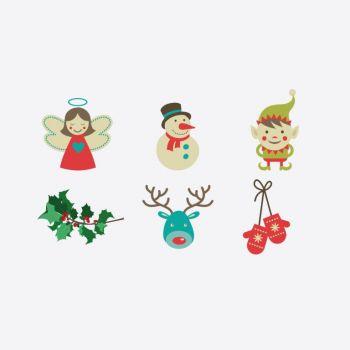 Cookut Tatoo Eat set of 6 different plate tatoos Christmas