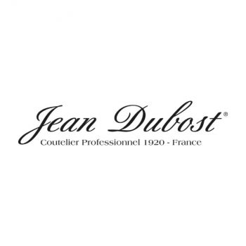 Jean Dubost set of 6 Laguiole table spoons in stainless steel taupe