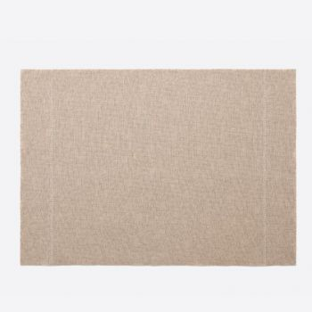 Day Drap non-slip placemat from recycled cotton light brown 45x32cm