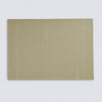 Day Drap non-slip placemat from recycled cotton Sand 45x32cm