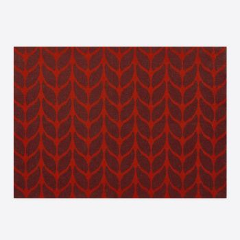 Day Drap non-slip placemat from recycled cotton Soft Wool red and eggplant 45x32cm