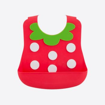 Dotz Kids silicone baby bib Strawberry from 6 months to 3 years old