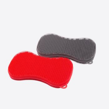 Dotz silicone sponge grey or red 13x8cm (24pcs/disp.)