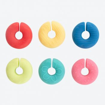 Dotz set of 6 silicone glass markers donut