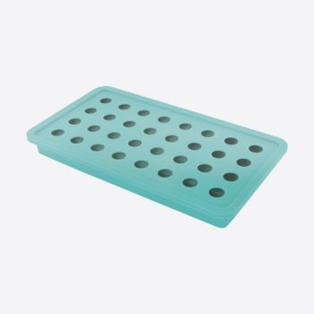 Dotz silicone ice cube tray for 32 ice pearls aqua blue ø 1.8cm