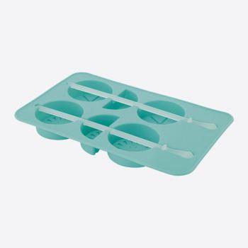 Dotz silicone ice cube tray fruits aqua blue 11.5x8.5x1.5cm