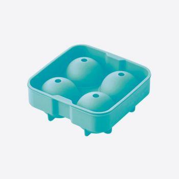 Dotz silicone ice ball mold for 4 balls aqua blue ø 4.5cm