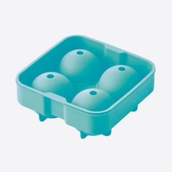 Dotz silicone ice ball mold for 4 balls aqua blue ø 6cm