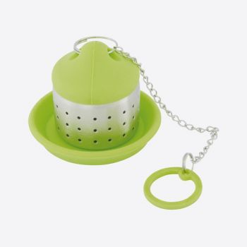 Dotz stainless steel and silicone tea infuser green 4x4x4.5cm