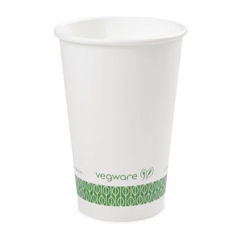 Vegware composteerbare koffiebekers wit 45cl