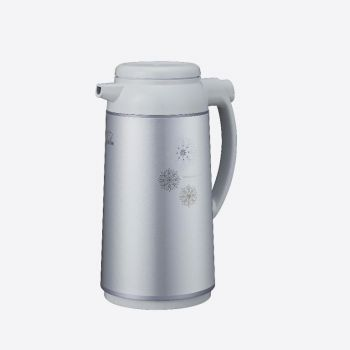 Zojirushi handy pot with glass interior body metalic grey 1.3L