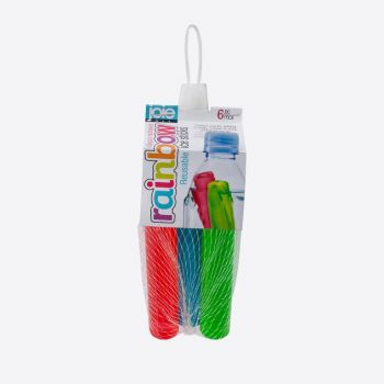 Joie Rainbow set of 6 reusable ice sticks blue; green and red 12cm