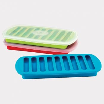 Joie ice cube tray with lid for 9 ice sticks red; green or blue (12 ass.)