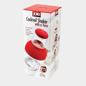Joie cocktail shaker with jigger red or green (per 6pcs)