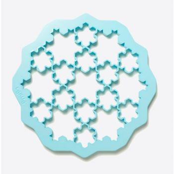 Lékué cookie cutter in ABS for 19 cookies - snow flakes