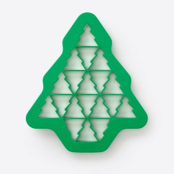 Lékué plastic cookie cutter for 19 Christmas trees green 23.5x27x1.5cm