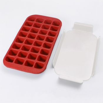 Lékué rubber ice cube tray for 32 ice cubes red 33.5x18x3.3cm