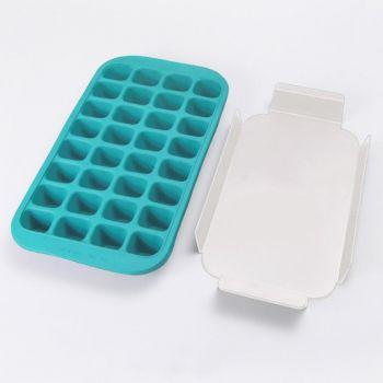 Lékué rubber ice cube tray for 32 ice cubes blue 33.5x18x3.3cm