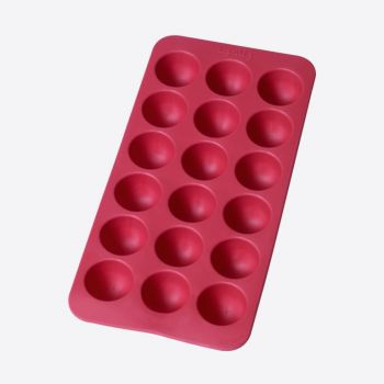 Lékué rubber ice cube tray for 18 round ice cubes red 22x11x2.3cm