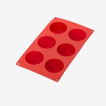 Lékué silicone baking mold for 6 muffins red Ø 6.9cm H 4cm