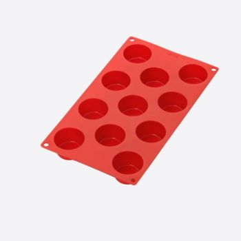 Lékué silicone baking mold for 11 muffins red Ø 5.3cm H 3cm