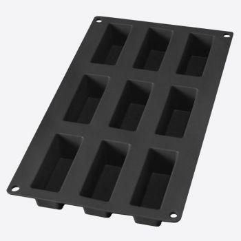 Lékué silicone baking mold for 9 rectangular cakes black 8x3x3.3cm