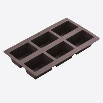 Lékué silicone baking mold for 6 rectangular breads 8.4x5.7x4.2cm