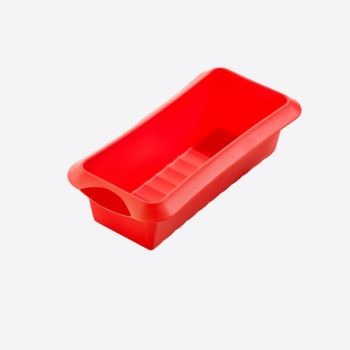 Lékué rectangular cake mold in silicone red 24x10x6.8cm