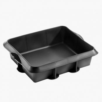Lékué square pie mold in silicone black 24x20x6.5cm