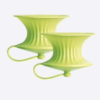 Lékué set of 2 citrus presses in silicone green Ø 8.3cm H 6.3cm