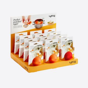 Lékué eipocheerder in silicone and stainless steel orange 11x4.5x7cm (12pcs/disp.)