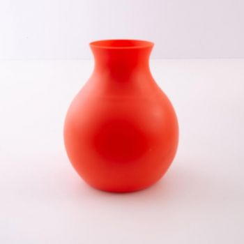 Menu Rubber Vase; L; burnt orange